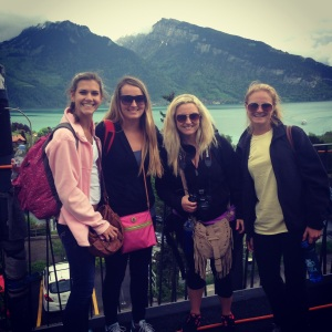 Juliana, Katelyn, Kayla and I on our way to Interlaken.